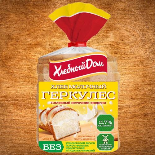 хлеб геркулес молочный 250 гр