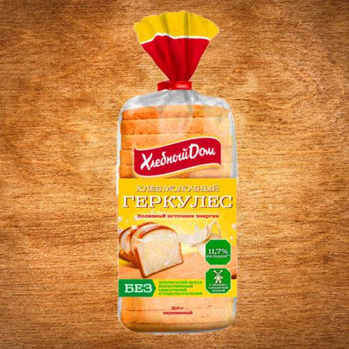 хлеб геркулес молочный