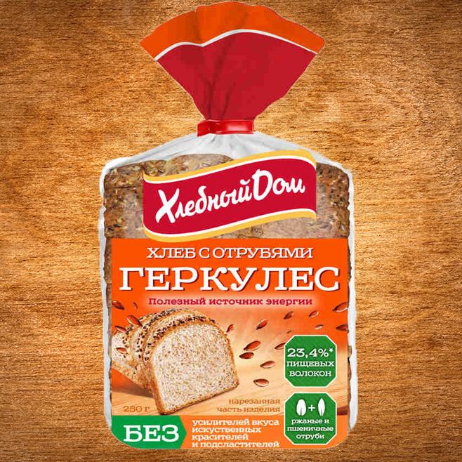 хлеб геркулес с отрубями пловинка