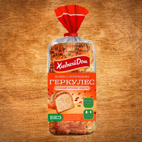 хлеб геркулес с отрубями