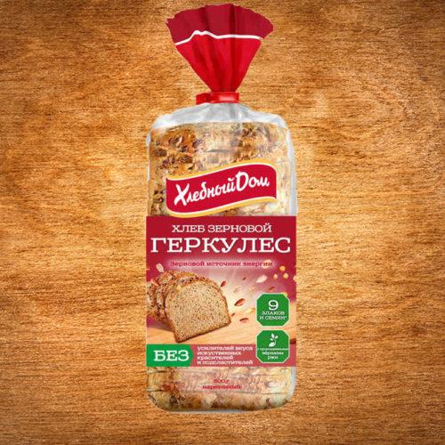 """Хлеб Геркулес """"Хлебный дом"""" зерновой в нарезке"""