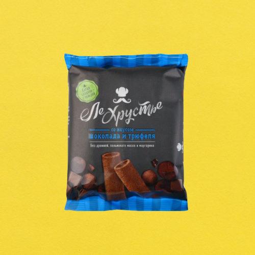"""Витебск Полоски кондитерские """"ЛеХрустье""""шоколад и трюфель, 100 гр"""